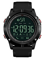 cheap -SKMEI Men's Sport Watch Military Watch Japanese Digital 50 m Water Resistant / Water Proof Bluetooth Alarm Silicone Band Digital Luxury Fashion Black - Black One Year Battery Life / Chronograph