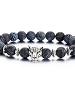cheap -Men's Retro Strand Bracelet - Tiger Fashion, Folk Style Bracelet Black For Daily