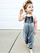 economico -Bambino / Bambino (1-4 anni) Da ragazza Tinta unita Senza maniche Salopette e tuta