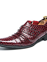 cheap -Men's Formal Shoes Faux Leather Fall Loafers & Slip-Ons Black / Wine / Beading / Wedding / Party & Evening
