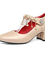 Недорогие -Жен. Комфортная обувь Полиуретан Весна Обувь на каблуках На толстом каблуке Белый / Красный / Зеленый