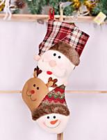 economico -Calze / Ornamenti di Natale Vacanza Stoffa (cotone) Quadrato Originale Decorazione natalizia
