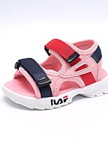 baratos -Para Meninos / Para Meninas Sapatos Com Transparência Verão Primeiros Passos Sandálias Velcro para Bebê Branco / Preto / Rosa claro / Peep Toe