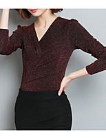 Недорогие -Жен. Сетка Рубашка Однотонный