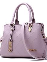 cheap -Women's Bags PU(Polyurethane) Tote Zipper Gray / Purple / Wine