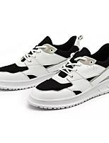 Недорогие -Муж. Комфортная обувь Полиуретан Осень На каждый день Кеды Контрастных цветов Белый / Черный / Красный