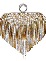cheap -Women's Bags Polyester / Alloy Evening Bag Crystals Blue / Gold / Red