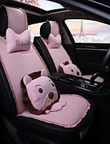 cheap -ODEER Car Seat Covers Seat Covers Blushing Pink Textile Cartoon / Common For universal All years All Models