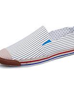 economico -Per uomo Scarpe comfort Di corda Estate Casual Mocassini e Slip-Ons Antiscivolo A strisce Bianco / Beige / Blu