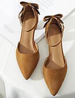 Недорогие -Жен. Балетки Полиуретан Весна лето Обувь на каблуках На толстом каблуке Черный / Миндальный / Темно-коричневый