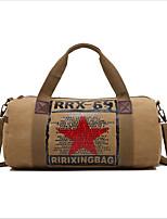preiswerte -Segeltuch Reisetasche Reißverschluss Blasses Blau / Braun / Khaki