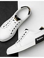 Недорогие -Муж. Комфортная обувь Полиуретан Весна & осень На каждый день Кеды Белый / Черный