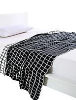 Недорогие -Супер мягкий, Активный краситель Полоски / Шахматка Хлопок одеяла