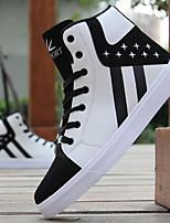 cheap -Men's PU(Polyurethane) Spring & Summer Comfort Sneakers Color Block White / Black / Black / Red