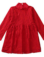 cheap -Kids Girls' Solid Colored Long Sleeve Dress