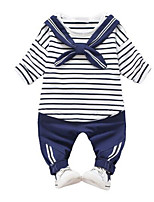 cheap -Kids Girls' Color Block Long Sleeve Clothing Set