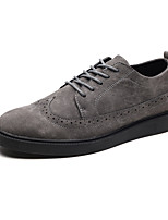 cheap -Men's Suede Fall Comfort Oxfords Black / Gray / Brown