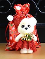 baratos -Fantasias de Natal Desenho Tecido de Algodão Quadrada Novidades Decoração de Natal