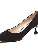 abordables -Femme Chaussures Daim Printemps Escarpin Basique Chaussures à Talons Talon Aiguille Noir / Vert / Chameau