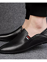 cheap -Men's Comfort Shoes Cowhide Spring &  Fall Casual Loafers & Slip-Ons Black / Dark Brown / Burgundy