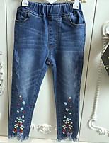 cheap -Kids Girls' Floral Jeans