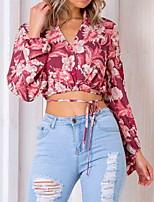 baratos -Mulheres Camiseta Básico Floral