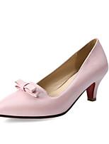 Недорогие -Жен. Комфортная обувь Полиуретан Осень Обувь на каблуках На шпильке Белый / Черный / Розовый