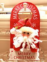 abordables -ornamentos de Navidad Vacaciones / Dibujos Tejido de Algodón Cuadrado Novedades Decoración navideña