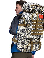 cheap -70 L Hiking Backpack / Rucksack - Rain-Proof, Wearable Outdoor Hunting, Hiking, Camping Nylon Green, Sky Blue+White, Camouflage