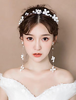 cheap -Women's Layered Jewelry Set - Romantic Include Headwear / Clip Earrings White For Party / Ceremony