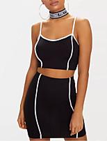 cheap -Women's Tank Top - Color Block Skirt