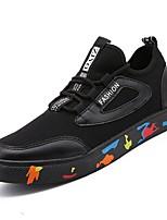 cheap -Men's PU(Polyurethane) Fall Comfort Sneakers Color Block Black / White / Black / Red