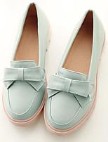Недорогие -Жен. Обувь Полиуретан Весна / Осень Удобная обувь Обувь на каблуках На плоской подошве Белый / Розовый / Синий+Розовый