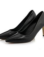 Недорогие -Жен. Комфортная обувь Наппа Leather Весна Обувь на каблуках На шпильке Черный / Красный / Розовый