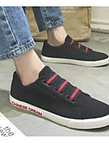 Недорогие -Муж. Комфортная обувь Полотно Весна & осень На каждый день Мокасины и Свитер Черный / Черно-белый / Черный / Красный