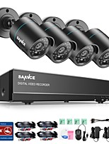 cheap -SANNCE 4CH 4PCS 720P Security System AHD DVR HDMI IR Night Vision Outdoor CCTV Camera Home Surveillance Kits