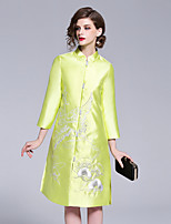 cheap -8CFAMILY Women's Vintage / Chinoiserie A Line Dress Embroidered