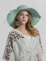 cheap -Women's Basic Straw Hat - Print