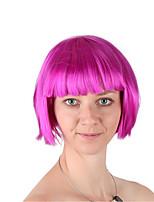 billiga -Syntetiska peruker / Kostymperuker Rak Bob-frisyr Syntetiskt hår 12 tum Moderiktig design / Cosplay / Förtjusande Ros rosa Peruk Dam Korta Maskingjord Rosa