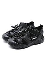 Недорогие -Мальчики Обувь Кожа Лето Удобная обувь Сандалии На липучках для Дети Белый / Черный