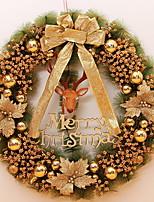 baratos -Guirlandas Férias De madeira Redonda de madeira Decoração de Natal