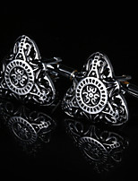 cheap -Geometric Silver Cufflinks Copper / Alloy Classic / Basic Men's Costume Jewelry For Gift / Daily