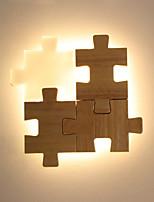 baratos -JLYLITE Estilo Mini Moderno / Contemporâneo Quarto de Estudo / Escritório / Escritório Madeira / Bambu Luz de parede 110-120V / 220-240V 12 W
