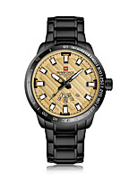 cheap -NAVIFORCE Men's Dress Watch Wrist Watch Japanese Japanese Quartz 30 m Water Resistant / Water Proof New Design Casual Watch Stainless Steel Band Analog Luxury Casual Black / Gold - Black / Gold Gold
