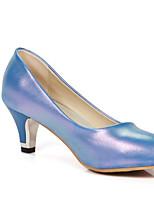 Недорогие -Жен. Комфортная обувь Полиуретан Весна Обувь на каблуках На низком каблуке Черный / Синий / Розовый