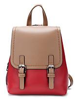 Недорогие -Жен. Мешки PU рюкзак Пуговицы Зеленый / Оранжевый / Пурпурный