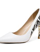 Недорогие -Жен. Комфортная обувь Наппа Leather Лето Обувь на каблуках На шпильке Черный / Бежевый