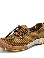 Недорогие -Муж. Комфортная обувь Сетка Лето На каждый день Кеды Дышащий Серый / Коричневый / Хаки