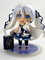 baratos -Figuras de Ação Anime Inspirado por Vocaloid Neve Miku 2018 PVC 10 cm CM modelo Brinquedos Boneca de Brinquedo