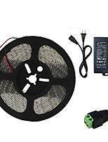 abordables -HKV 5m Bandes Lumineuses LED Flexibles 300 LED SMD5630 Adaptateur d'alimentation 1 X 5A Rouge / Bleu / Vert Imperméable / Découpable / Connectible 100-240 V